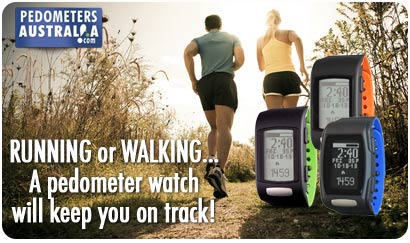 Pedometer watches with heart rate available at Pedometers Australia
