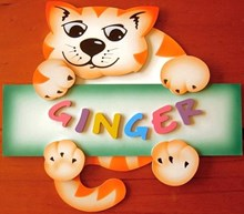 GINGER CAT Name Plaque