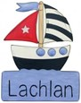 Sail Away Character Name Plaque