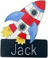 Outer Space Character Name Plaque