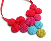 Bubble Drop knitted necklace