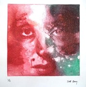 Portrait Etching 1, steel plate