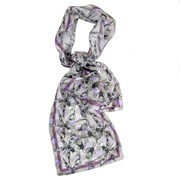 Blackberry Gumption - Long Silk Scarf