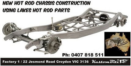 Rod City Repros reproduction hot rod chassis construction Croydon Victoria
