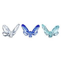 Swarovski Butterflies, small blue (Set of 3)