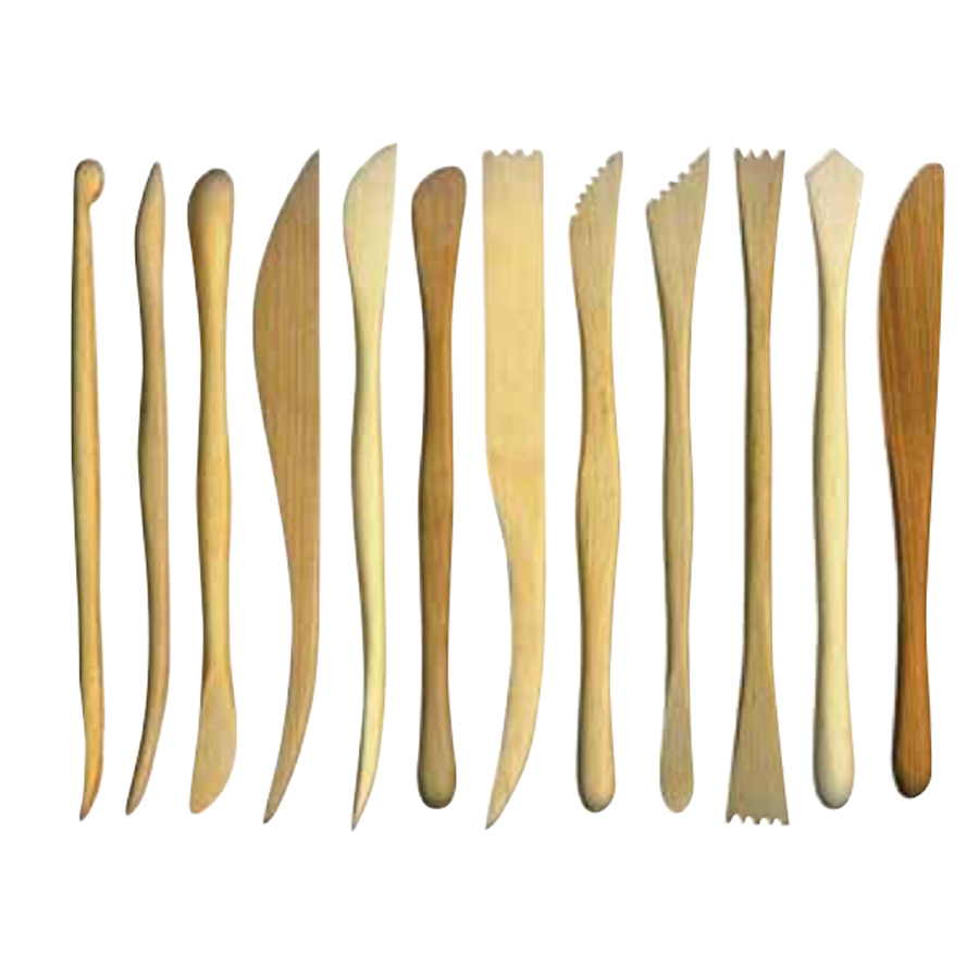 pack of 12 wooden clay tools aldax moulds store