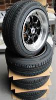 Set of four Nemoto RS 15x8 +15 with Blacklion 185/55 tyres