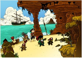 Teddy Bear Pirate landing