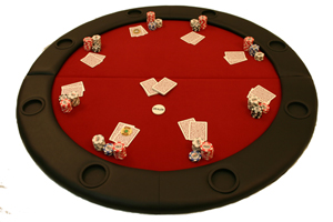 Round Poker Table Top Simply Unfold The Table Top
