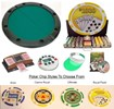 Round POKER TABLE TOP Portable & Chips Combo Texas Hold'em Pack