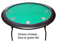 "52"" round professional texas hold'em POKER TABLE with deep steel drink holders inc FREE cover"