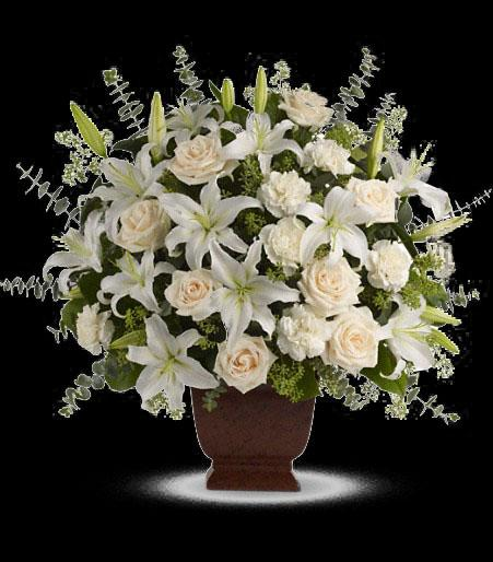 T216 1a Teleflora S Loving Lilies And Roses Bouquet