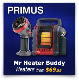 Primus Mr Heater Portable and Little Buddy Heaters