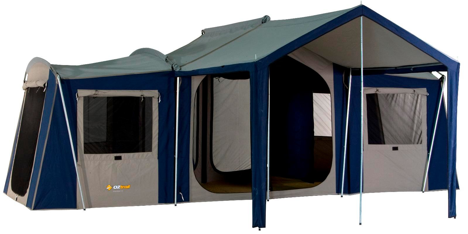 Ozark trail 16 x 16 instant cabin tent sleeps 12 joy for What is a tent cabin