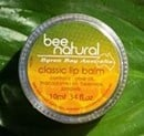 Bee Natural Classic Unscented Lip Balm 10g