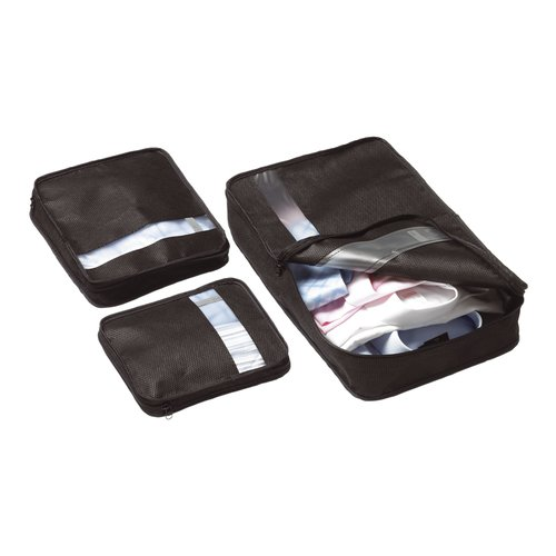 bag packers tidy case luggage packing cubes set of 3. Black Bedroom Furniture Sets. Home Design Ideas