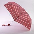 Fulton Compact Mini Flat Umbrella Red Tex Spot