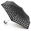 Fulton Superslim-2 Compact Ladies Umbrella  Silver Hearts