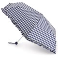 Fulton Ladies Superslim Umbrella Cowgirl Gingham Blue