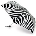 Fulton Ladies Superslim Umbrella Shiny Zebra