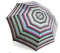 Drizzles Ladies Walking Length Auto Umbrella  Stripes