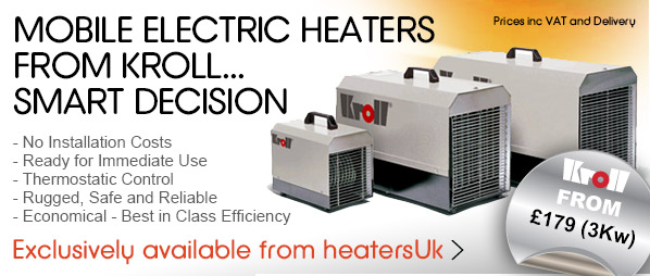 Kroll, mobile electric heaters