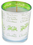 Christmas Candles in Silver & Green
