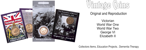 Vintage Original and Reproduction Coins. Victorian through to Elizabeth II