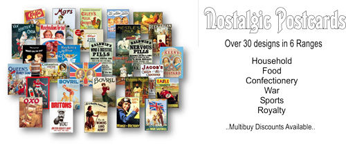 Nostalgic Postcards. 6 Ranges to choose from.