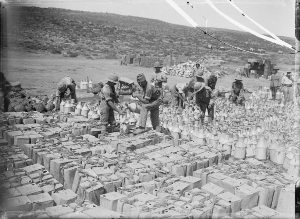 Water rationing at Gallipoli 1915