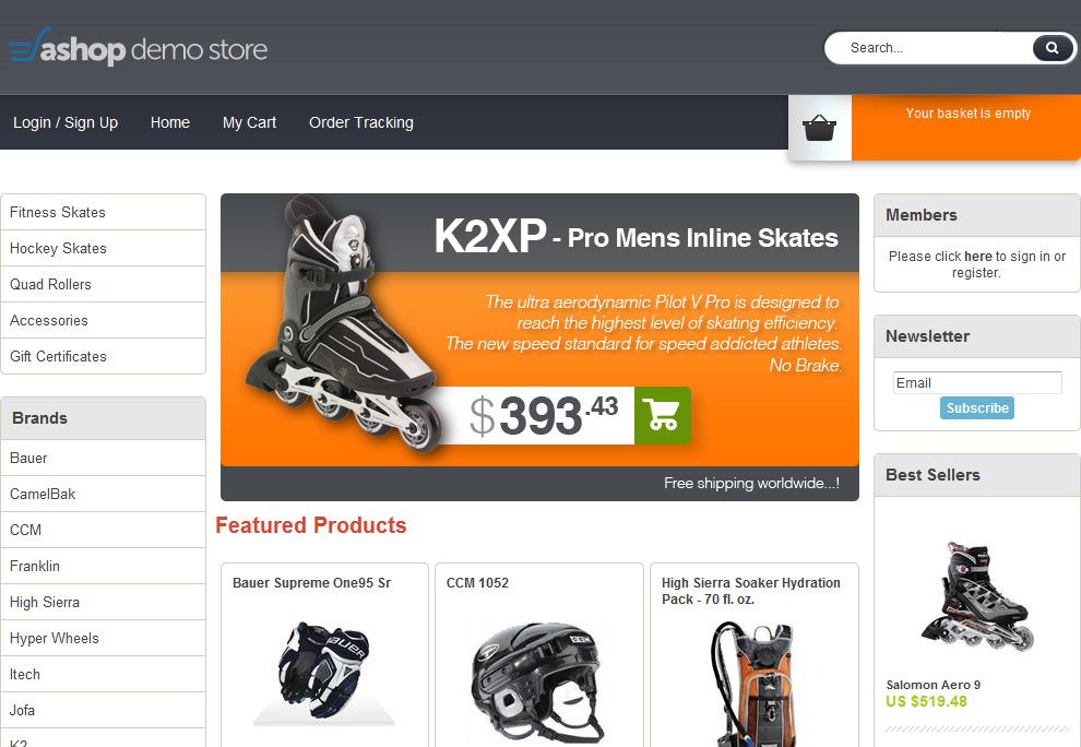 Product Tour Ecommerce Shopping Cart Software