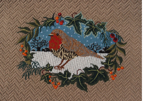 Christmas Robin Canvas Kit