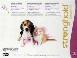 Stronghold Parasite Treatment for Kittens and Puppy's Under 5lbs