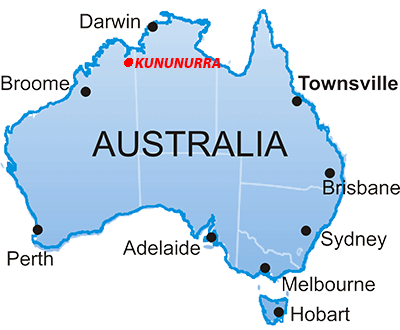 Kununurra Western Australia Location