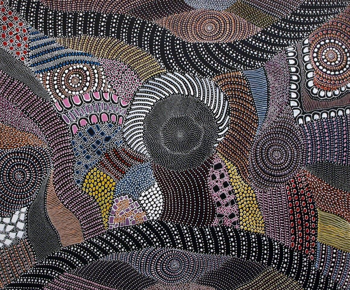 Famous Line Artists Names : Behind the dots of aboriginal art