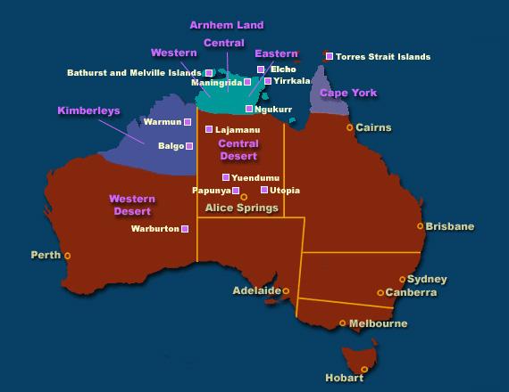 Aboriginal Art Regions