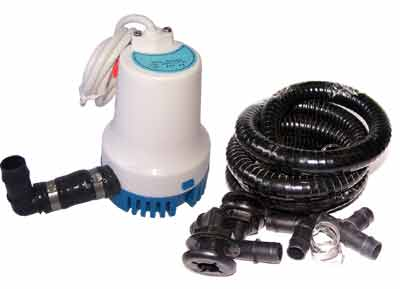 Backup aeration pump and pipes