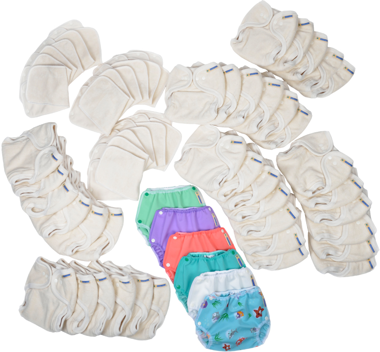 36 Pack of Mother-ease One Size Nappies