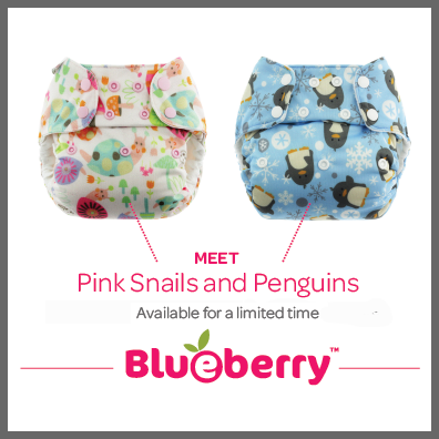 Penguins and Pink Snails Limited Edition Blueberry Prints