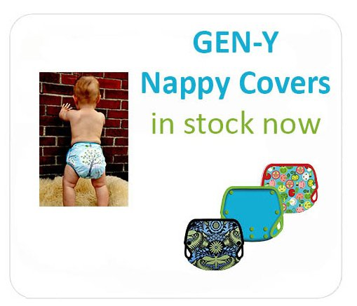 Gen-y nappy covers at Baby Blossom