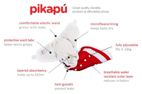 Pikapu All in One Nappy