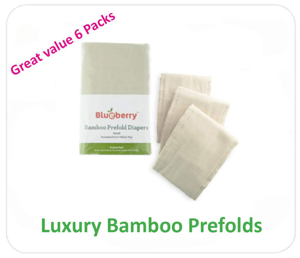 Blueberry Bamboo Prefold Nappies