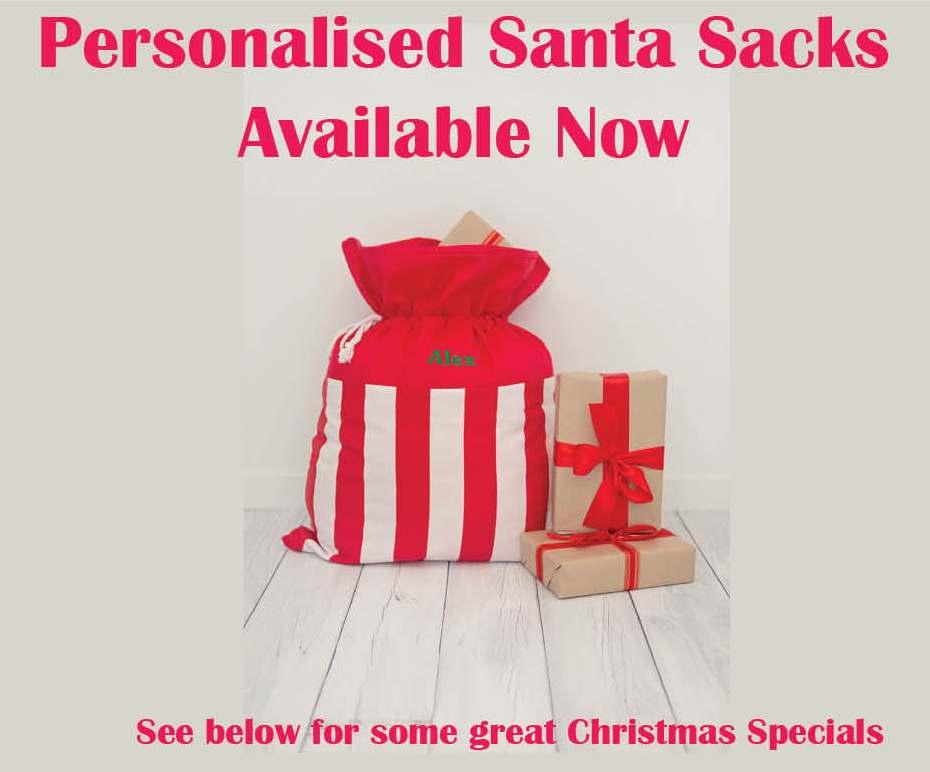 Buster Boo Personalised Santa Sacks at Baby Blossom