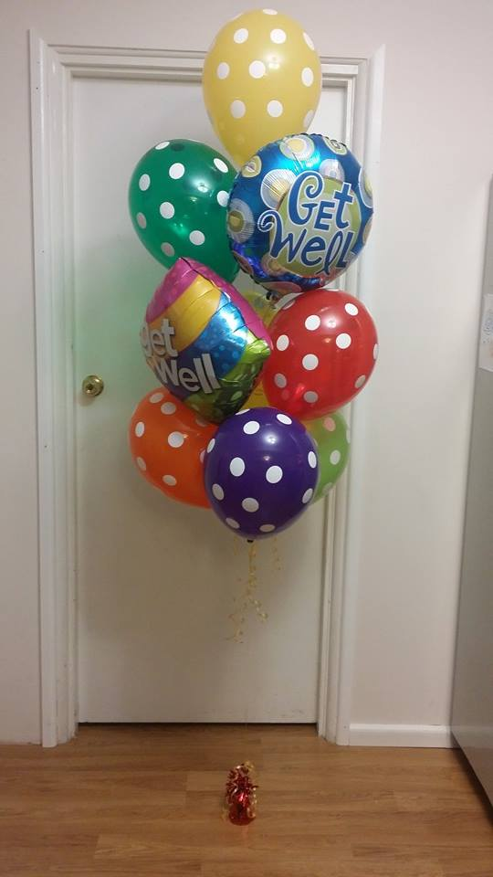 Get Well Theme Super Spots Balloon Bouquet