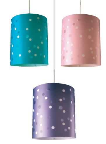 Polka dot ceiling lightshades on special offer. Fresh Spring decorating ideas for children s rooms