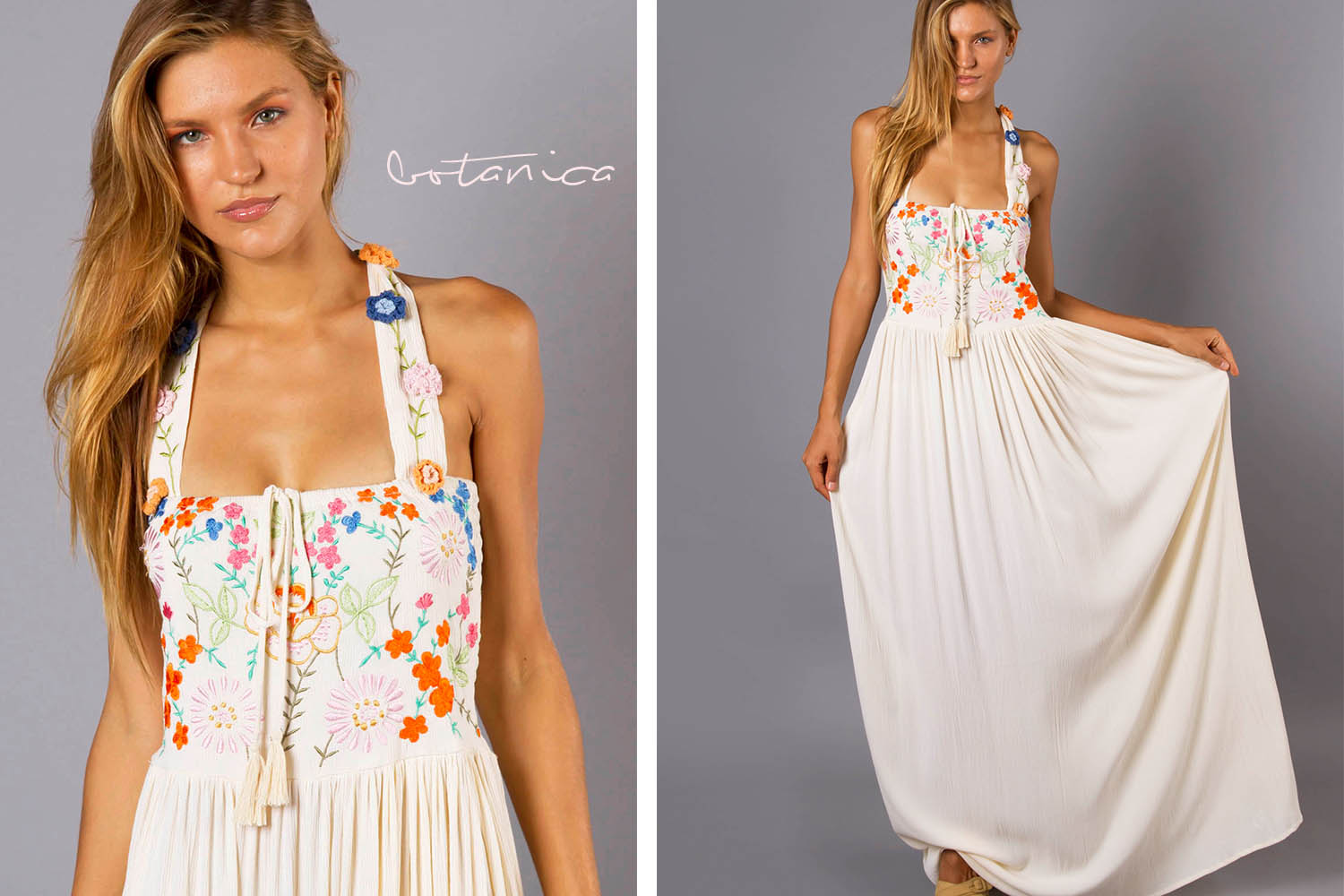 Botanica Maxi Dress Bohemian Baby Shower Maxi Dress