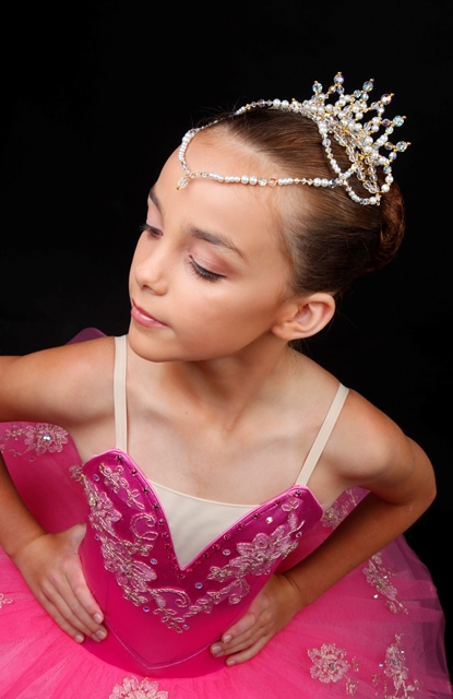Crystal Ballet Dance Tiara - Lil'Petal with drop