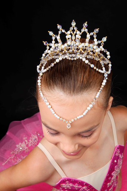 Ballet Tiara Crystal - Lil'Petal with Drop