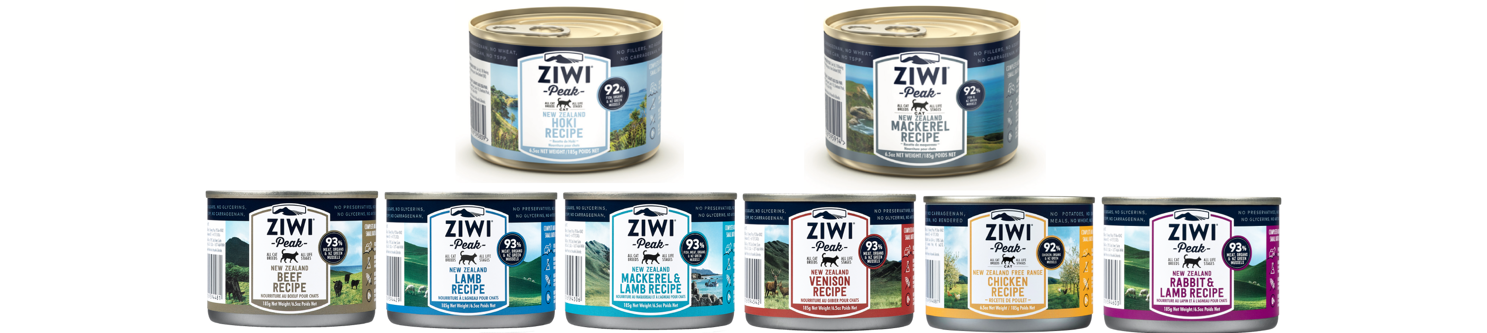 ZIWI Peak new 185-gram cat cans