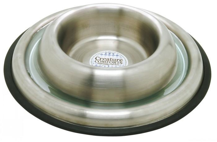 Ant-proof stainless steel dog bowl